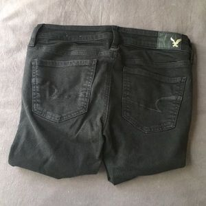 American Eagle Outfitters Jeans - American Eagle Black Jeggings with Rips in Knees